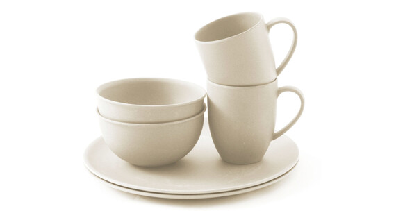 Outwell Bamboo Dinner Set 2 persons off-white